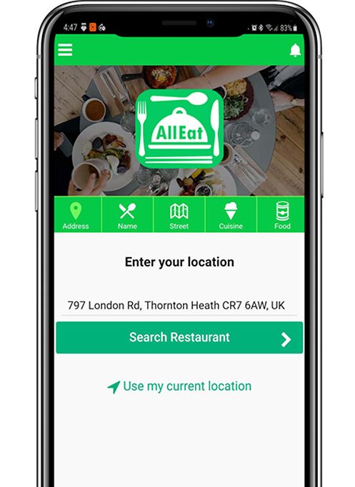 All Eat App in your mobile!